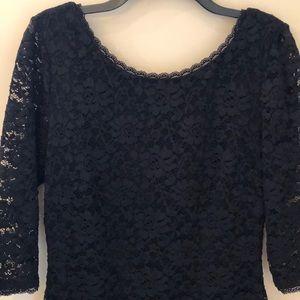 Laundry black floral lace sheath dress size 12